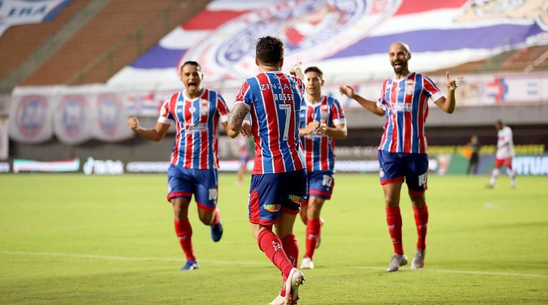 Bahia goleia o CRB e garante vaga na semi da Copa do Nordeste