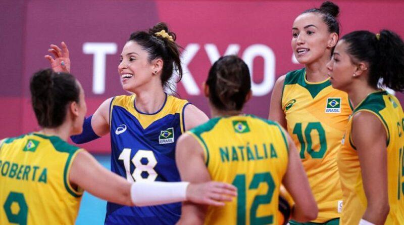 Brasil assume liderança com vitória sobre a Sérvia no vôlei feminino