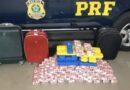 Jovem é presa em flagrante por transportar mais de 60 quilos de drogas em ônibus