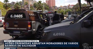 Ações criminosas assustam moradores de Salvador